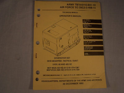 MEP-802A/812A 5 KW Generator Set Operators Manual