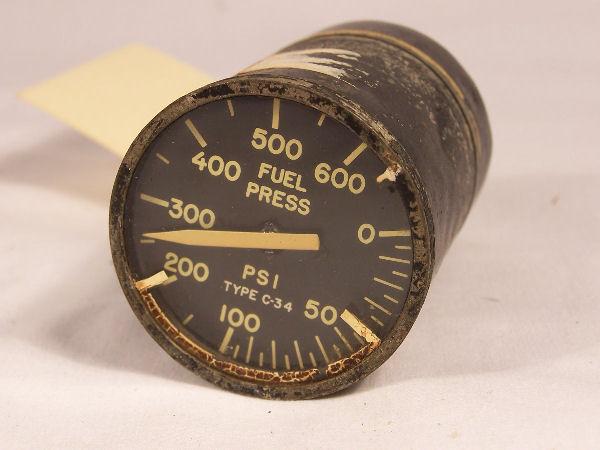 25100-A43A-1-B1, C-34, MS28010-7 Fuel Pressure Indicator
