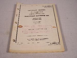 AN/APN-133 Electronic Altimeter Maintenance Manual