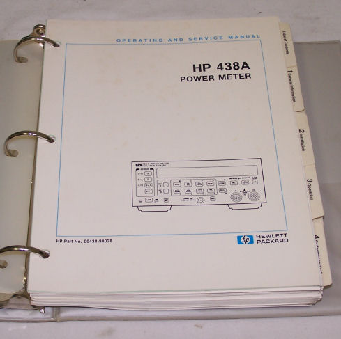 HP 438A, Power Meter Service Manual
