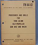 M42, M42A1, Procedures Field Manual