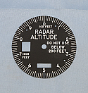 C306010207 Face Plate, Radar Altimeter