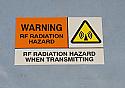 2012446-002, Warning Sticker, RF Radiation