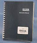 Fluke 1953A, Counter Timer Instruction Manual