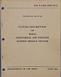M48A2, MIM-72, Chaparral, System Description Manual